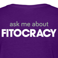 Design ~ Fitocracy - Ask Me About - Women's Purple Regular Tee