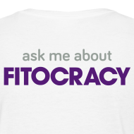Design ~ Fitocracy - Ask Me About - Women's White Regular Tee