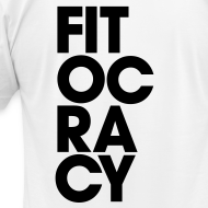 Design ~ Fitocracy - Syllable - Men's White Regular Tee