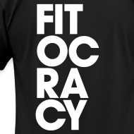 Design ~ Fitocracy - Syllable - Men's Black Regular Tee