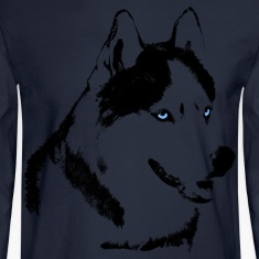 Men's Husky Shirts Long Sleeve Siberian Husky Shirts