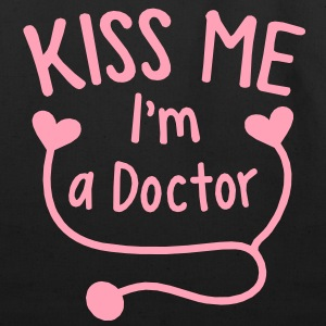 KISS ME I'm a Doctor! with love heart stethoscope Bags  - Eco-Friendly Cotton Tote