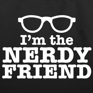 I'm the NERDY friend with cool retro funky glasses Bags  - Eco-Friendly Cotton Tote