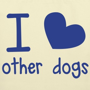 I LOVE OTHER DOGS so cute perfect for a cat or dog pet owner Bags  - Eco-Friendly Cotton Tote