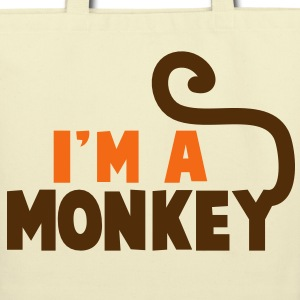 I'm a monkey cute! with tail Bags  - Eco-Friendly Cotton Tote