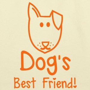 Dog's BEST FRIEND! perfect for pet owner Bags  - Eco-Friendly Cotton Tote