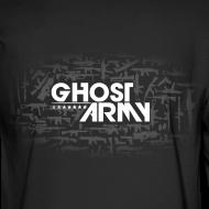 Design ~ GhostArmy Long-sleeve, white on black.