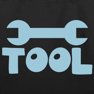 TOOL with a spanner good for a stupid mechanic?  Bags  - Eco-Friendly Cotton Tote