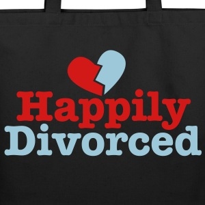 happily divorced with broken love heart Bags  - Eco-Friendly Cotton Tote