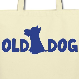 OLD DOG with puppy good for the old man! Bags  - Eco-Friendly Cotton Tote