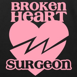 Broken heart surgeon funny design for anyone out of luck with Romance Bags  - Eco-Friendly Cotton Tote