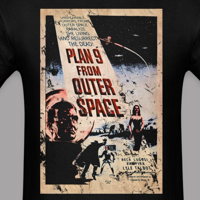 Plan 9 from outer space Ed Wood B Movie Horror Men's T Shirt