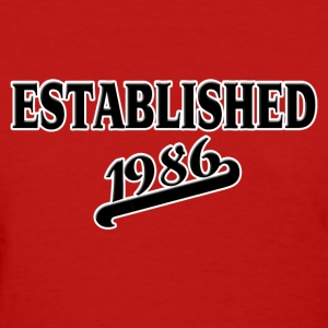 Established 1986 Women's T-Shirts - Women's T-Shirt