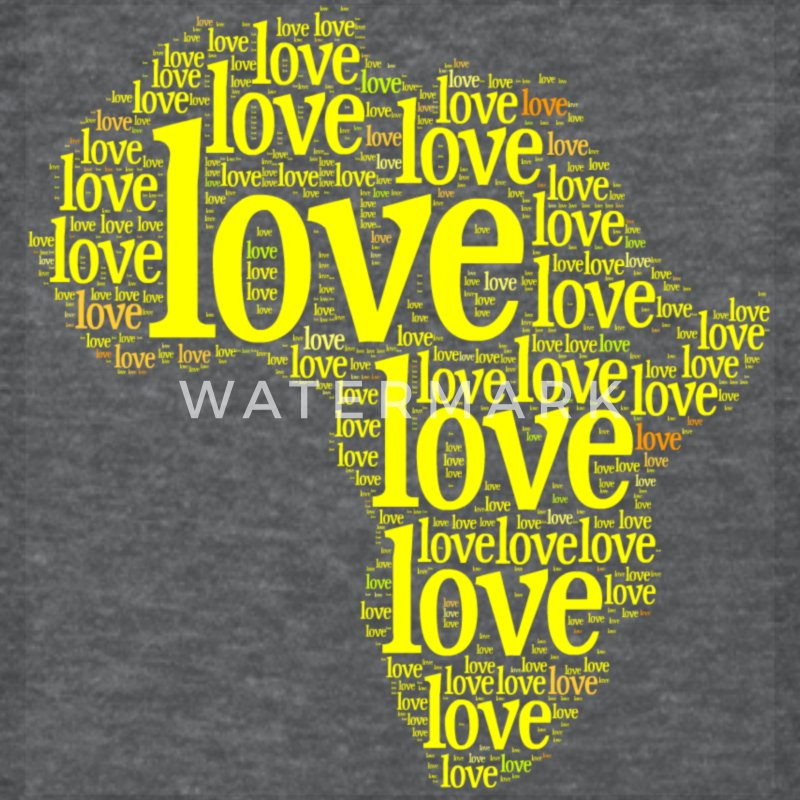 Africa Yellow Love Women's T-Shirts - Women's T-Shirt