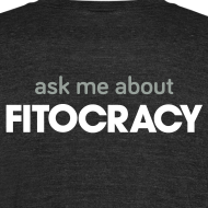 Design ~ Fitocracy - Ask Me About - Men's Black Vintage Tee