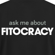 Design ~ Fitocracy - Ask Me About - Men's Black Regular Tee