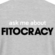 Design ~ Fitocracy - Ask Me About - Men's Gray Regular Tee