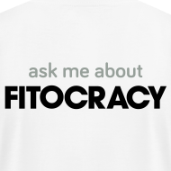 Design ~ Fitocracy - Ask Me About - Men's White Regular Tee
