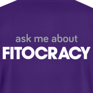 Design ~ Fitocracy - Ask Me About - Men's Purple Regular Tee