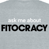 Design ~ Fitocracy - Ask Me About - Men's Gray Vintage Tee