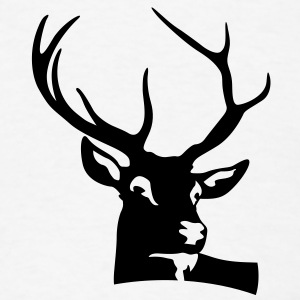 Deer Head (1c)++ T-Shirts - Men's T-Shirt
