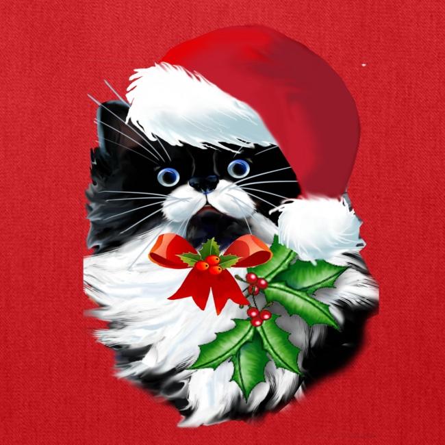 Tuxedo Kitty at Christmas