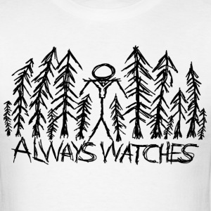 White Always Watches Slenderman T-Shirt T-Shirts - Men's T-Shirt