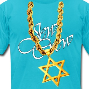 Jew Crew Star of David - Men's T-Shirt by American Apparel