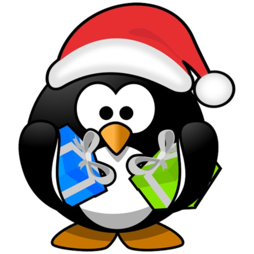 Christmas Penguin w Gifts
