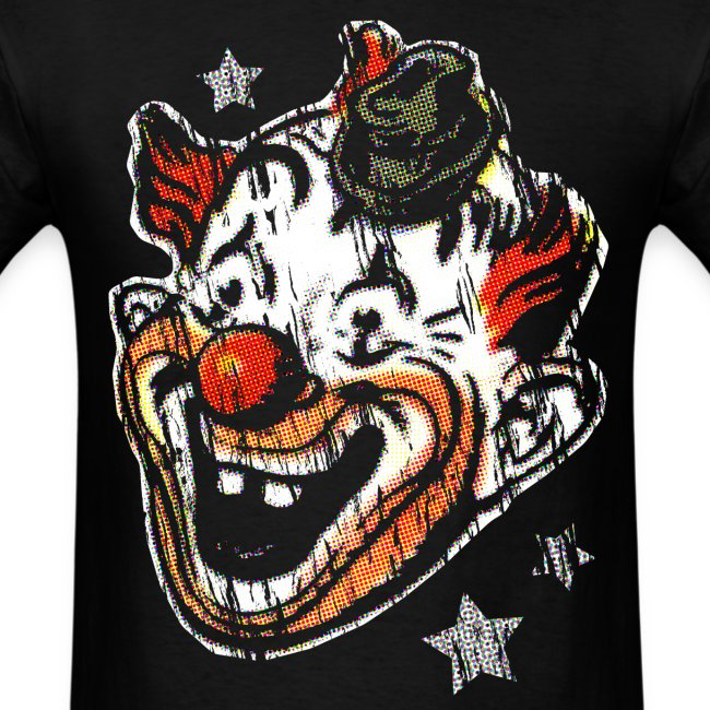 Retro Clown Topstone Mask Men's Halloween Shirt