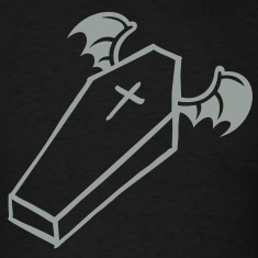 Flying Halloween Coffin T-Shirts