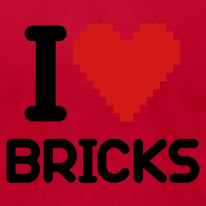 I love Bricks 2c T-Shirts - Men's T-Shirt by American Apparel