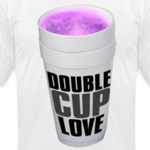 Double cup love. T-Shirts - Men's T-Shirt by American Apparel