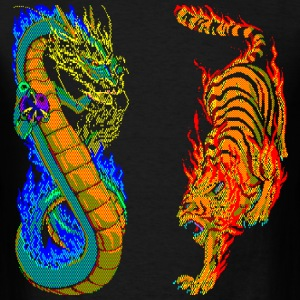 Dragon vs Tiger - Men's T-Shirt