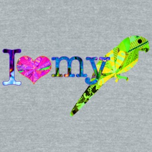 I LOVE MY PARROT T-Shirts - Unisex Tri-Blend T-Shirt by American Apparel