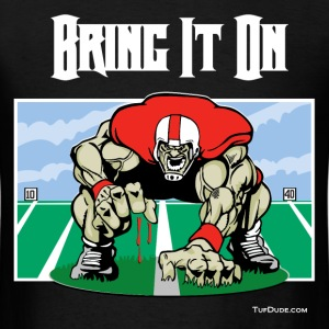 Football - Bring it on 001 - wb T-Shirts - Men's T-Shirt