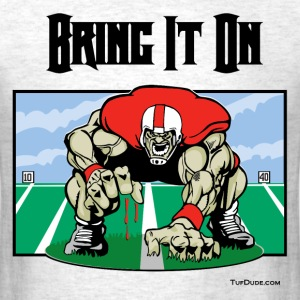 Football - Bring it on 001 - bw T-Shirts - Men's T-Shirt