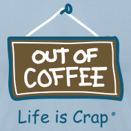 Design ~ Out of Coffee Sign - Mens T-shirt by American Apparel