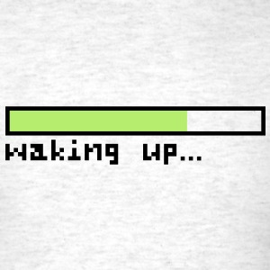 Loading waking up - Men's T-Shirt