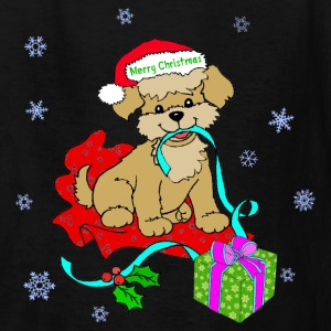 Christmas Puppy - Kids' T-Shirt