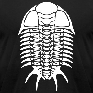 Trilobite skeleton - Men's T-Shirt by American Apparel