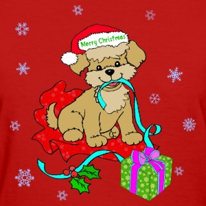 Christmas Puppy - Women's T-Shirt