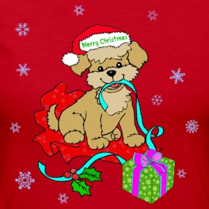 Christmas Puppy - Women's Long Sleeve Jersey T-Shirt