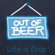 Design ~ Out Of Beer Sign - Mens T-shirt by American Apparel