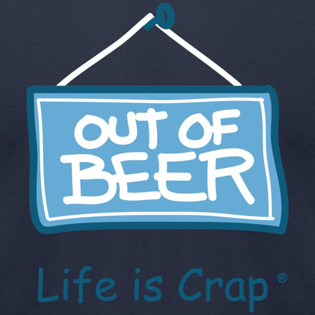 Out Of Beer Sign - Mens T-shirt by American Apparel