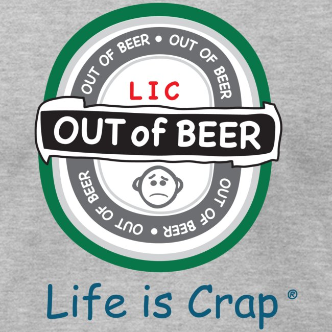 Out Of Beer Label - Mens T-shirt by American Apparel