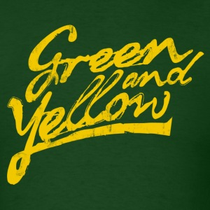 GREEN AND YELLOW T-Shirts - Men's T-Shirt
