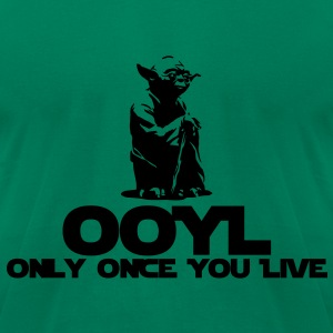 KCCO STARWARS Yoda OOYL Funny T-Shirts - Men's T-Shirt by American Apparel