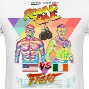 Floyd Mayweather vs Conor McGregor Street Fighter style T-shirt - Men's T-Shirt
