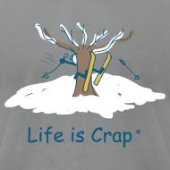 Design ~ Skiier Tree Mens T-Shirt by American Apparel